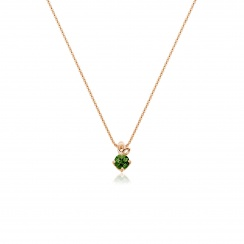 Lief Green Tourmaline Pendant in Rose Gold-PEVARRG1177-2
