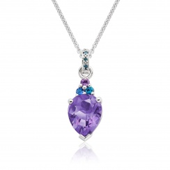 Astral Lagoon Pear Drop Pendant in White Gold-PEVARWG1123-1