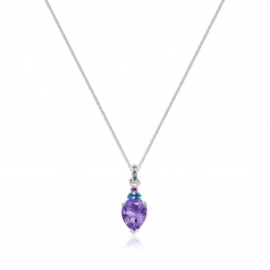 Astral Lagoon Pear Drop Pendant in White Gold-PEVARWG1123-2