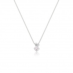 Lief Morganite Pendant in White Gold-PEVARWG1174-2