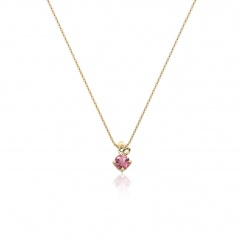 Lief Pink Tourmaline Pendant in Yellow Gold-PEVARYG1175-2