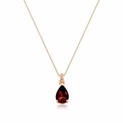 Mythologie Red Garnet and Diamond Pendant in Rose Gold-PEVARRG1318-2