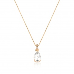 Mythologie White Topaz and Diamond Pendant in Rose Gold-PEVARRG1269-2