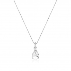 Mythologie White Topaz and Diamond Pendant in White Gold-PEVARWG1263-2