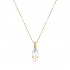 Mythologie White Topaz and Diamond Pendant in Yellow Gold-PEVARYG1266-2