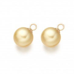 Yellow Gold Diamond Leverbacks with Golden South Sea Pearls-SEGRYG0275-3