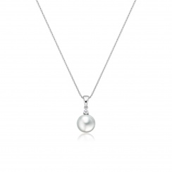 White South Sea Pearl and Diamond Pendant-SPWRWG0175-2