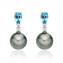 Classic Pear Drop Earrings in Aquamarine-TEGRWG0997-2