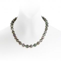 Peacock Baroque Tahitian Pearl Necklace with 18ct White Gold-TNMBWG0018-1