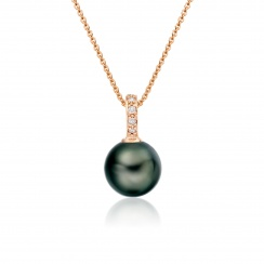 Mythologie Tahitian Pearl and Diamond Pendant in Rose Gold-TPVARRG1293-2