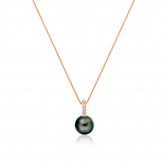 Mythologie Tahitian Pearl and Diamond Pendant in Rose Gold-TPVARRG1293-3