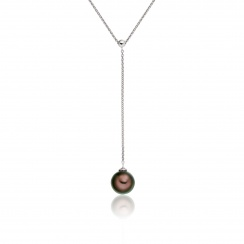 Tahitian Pearl Lariat in White Gold-1