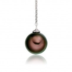 Tahitian Pearl Lariat in White Gold-2