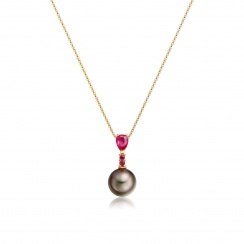 Classic Pear Drop Pendant in Ruby-2