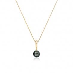 Mythologie Dark Dewdrop Tahitian Pearl Pendant in Yellow Gold-TPVARYG1286-2