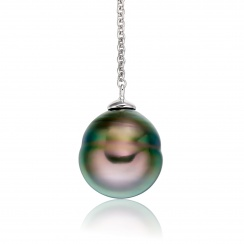 Baroque Tahitian Pearl Lariat in White Gold-TPPBWG0772-2