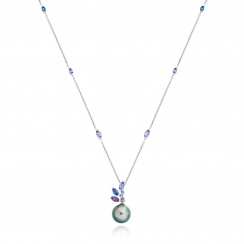 Enchanted Lagoon Pendant in White Gold-TPPRWG0897-2
