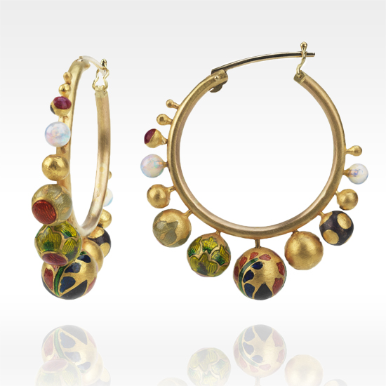 Alice Cicolini Orbital Hoop Earrings