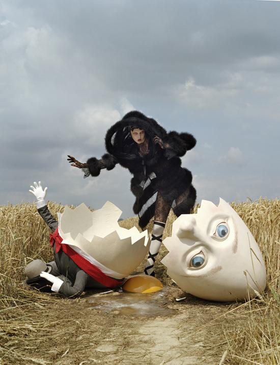 Karlie Kloss and broken Humpty Dumpty, Rye, East Sussex, 2010