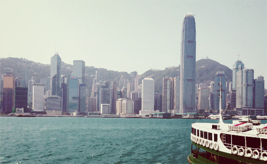 Crossing Victoria Harbour HK