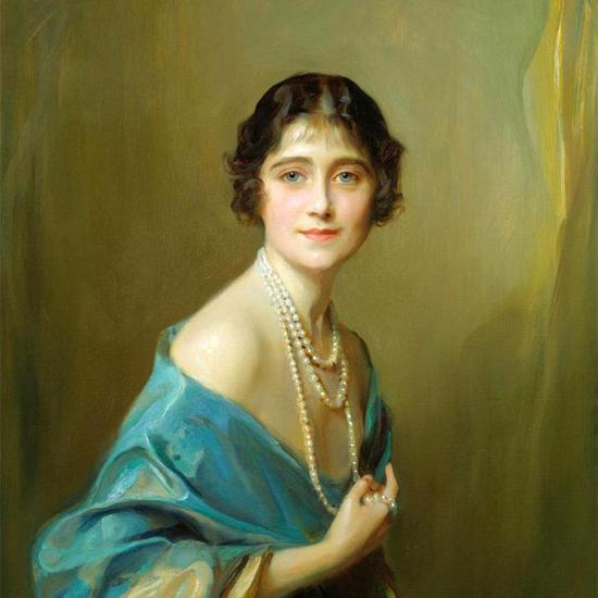 Queen Elizabeth The Queen Mother, portrait by Philip Alexius de László - 1925