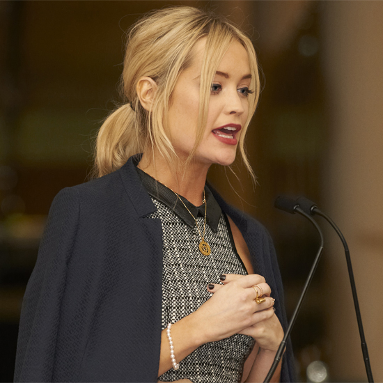 Laura Whitmore at the V&A Pearls Exhibition