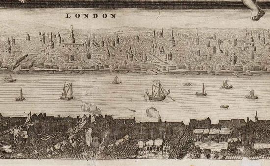 London 1693, de Witt map