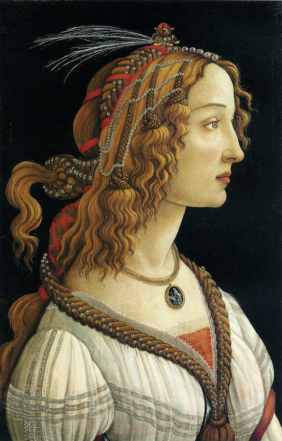 Sandro Botticelli's Portrait of an Ideal Woman of Frankfurt