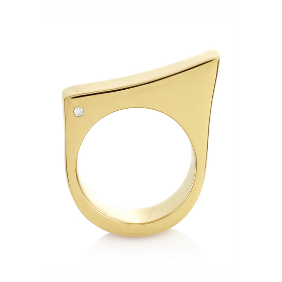 Slope Ring With Diamonds