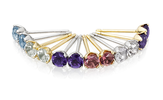 Gemstone Earrings Fan