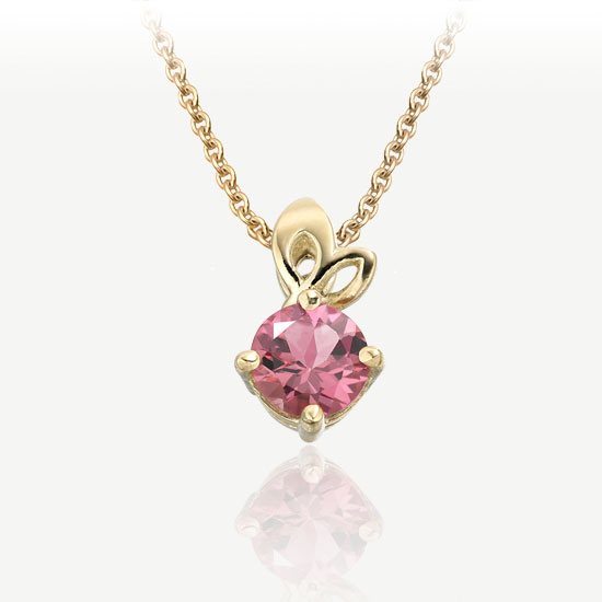 Lief-Pendant-in-Yellow-Gold-and-Pink-Tourmaline