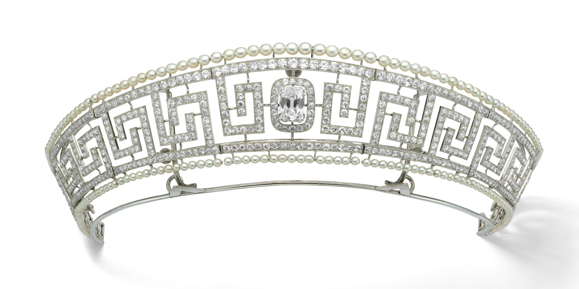 Diamond and pearl tiara saved from the Lusitania Cartier Paris 1909