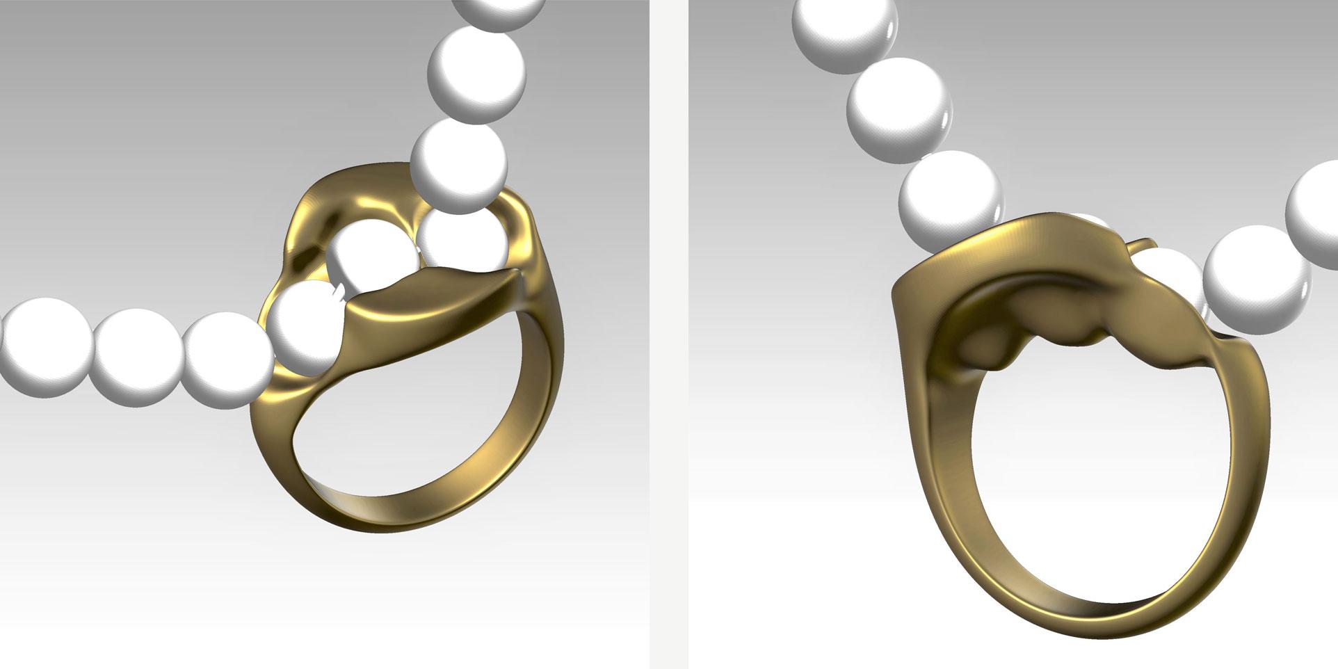 Zak Sheinman pearl and rings